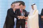 "Dr. B.R. Shetty, Founder and Chairman – NMC Healthcare receives the ""Living Legend & Iconic Leader"""