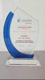 Dr. B.R. Shetty honoured with the Women's Leadership Advancement Award